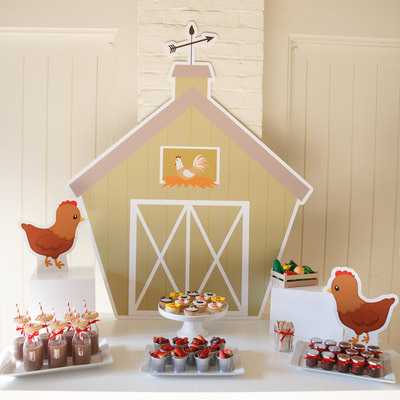 Over the Rainbow Party Planning and Hire.  Down at the Farm Children's Party Package.